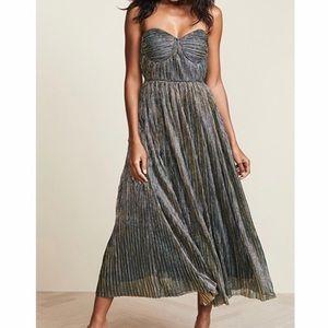 Glamorous Metallic Midi Dress Size 6 With Tags